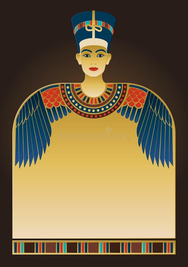 Elementi egiziani di progettazione e del fondo royalty illustrazione gratis