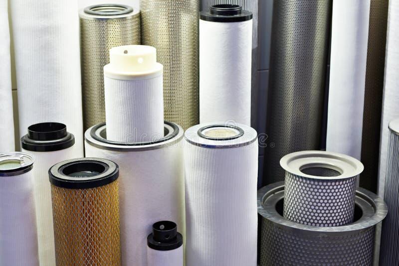Elementi filtranti per l'industriale fotografia stock