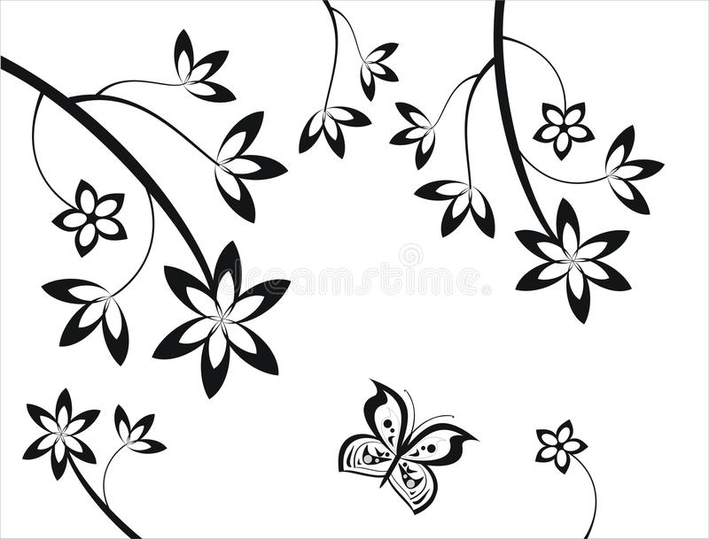 Elementi floreali fotografie stock