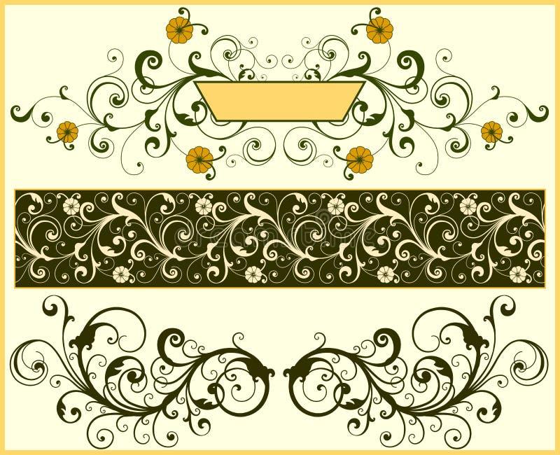 Elementi floreali illustrazione di stock