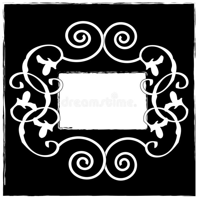 Elementi floreali del grunge illustrazione di stock