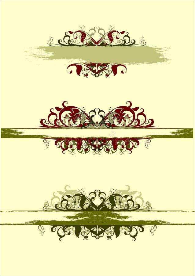 Elementi floreali dell'annata royalty illustrazione gratis