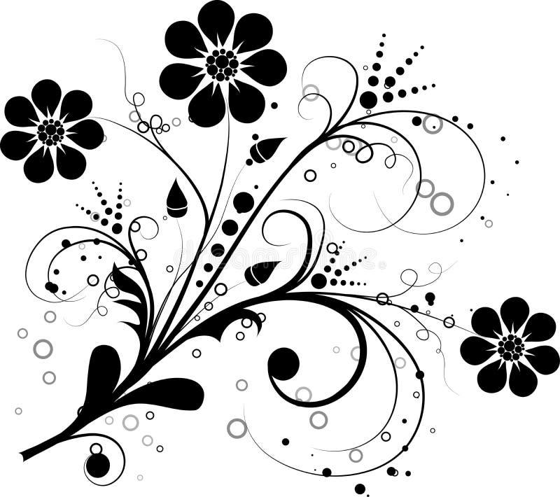 Elementi floreali di vettore per il disegno royalty illustrazione gratis
