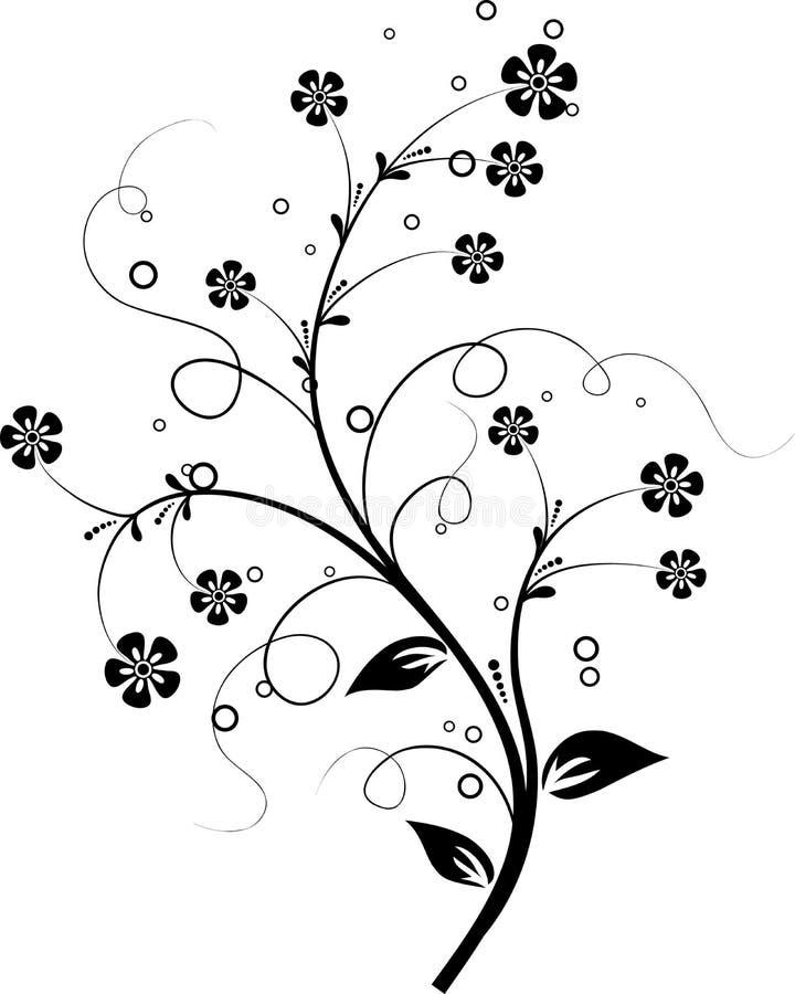 Elementi floreali per il disegno,   illustrazione di stock