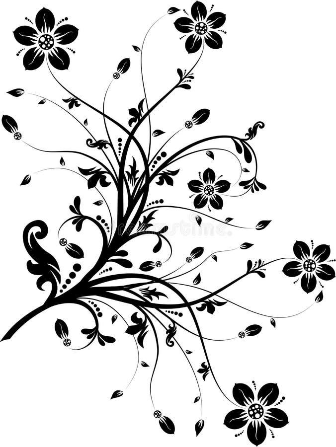 Elementi floreali per il disegno,   royalty illustrazione gratis