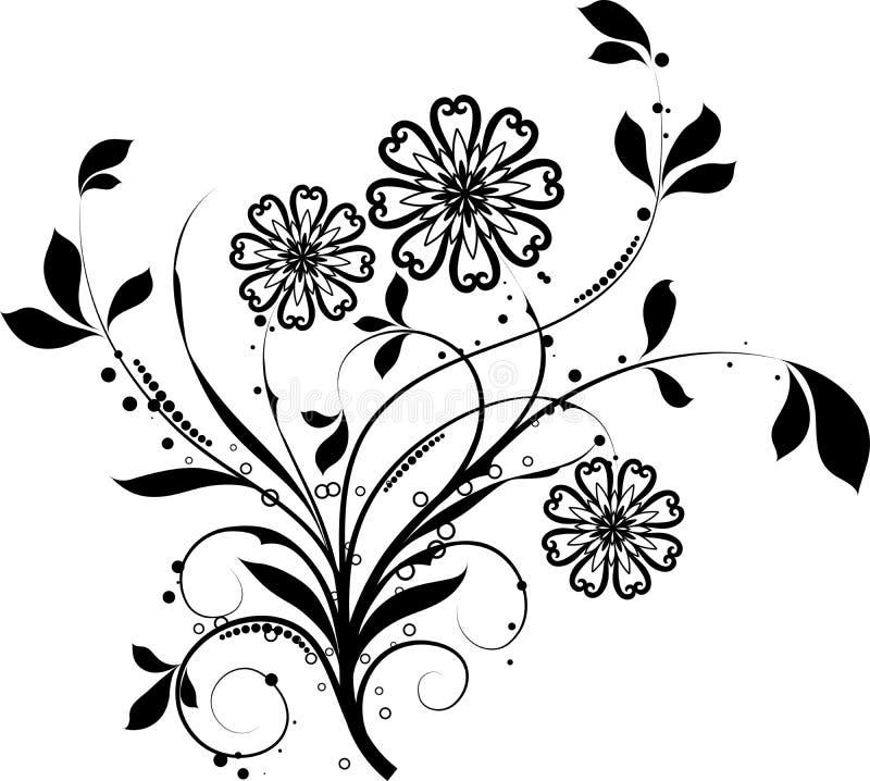 Elementi floreali per il disegno,   illustrazione vettoriale