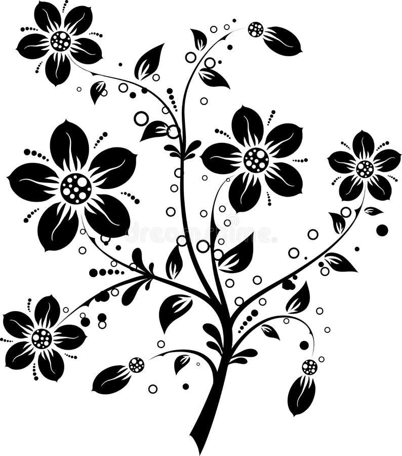 Elementi floreali per il disegno, vettore royalty illustrazione gratis