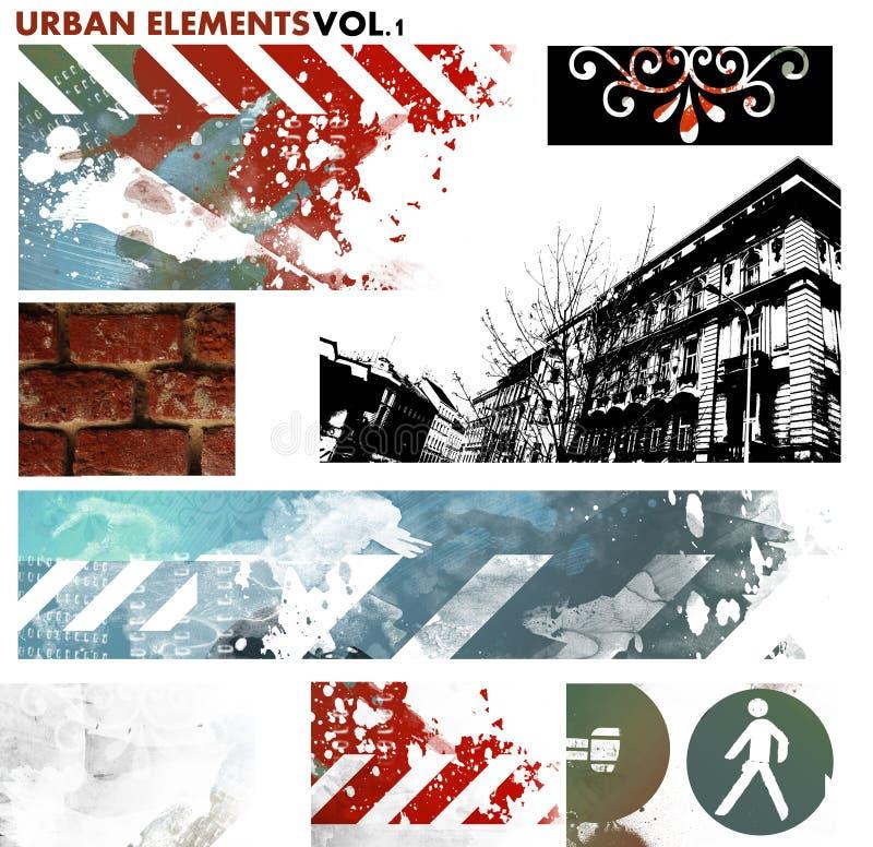 Elementi grafici urbani royalty illustrazione gratis