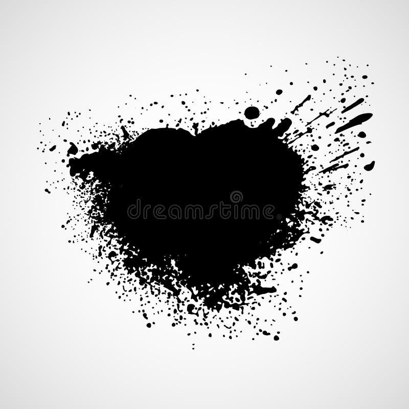Elementi grungy neri di progettazione Illustrazione di vettore illustrazione di stock