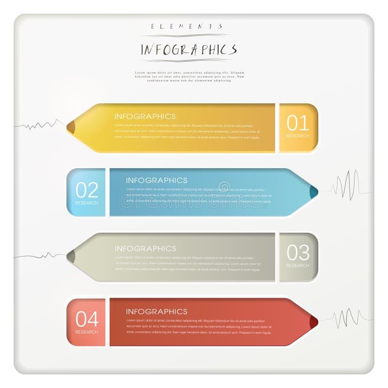 Elementi infographic dell'istogramma di carta creativo della matita royalty illustrazione gratis