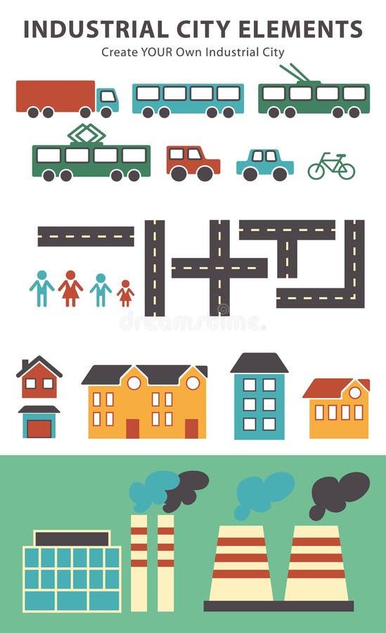 Elementi infographic della citt vector gli elementi della for Design della mappa di casa