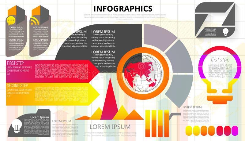Elementi infographic di vettore dell'estratto dell'etichetta moderna di punto pu? essere usato per il collegamento di rete global royalty illustrazione gratis