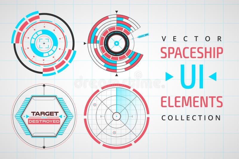 Elementi infographic di web dell'interfaccia di UI illustrazione vettoriale