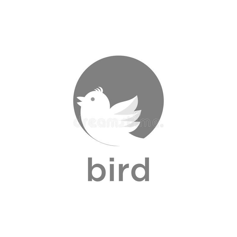 Elementi lineari dell'icona di vettore dell'uccello di logo e di progettazione di logo - vettore royalty illustrazione gratis