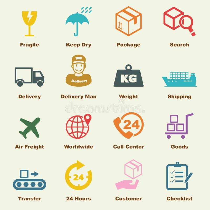 Elementi logistici illustrazione di stock