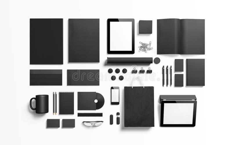 Elementi marcanti a caldo neri neri per sostituire la vostra progettazione illustrazione di stock
