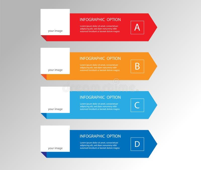 Elementi minimi moderni della freccia per il infographics di affari illustrazione vettoriale