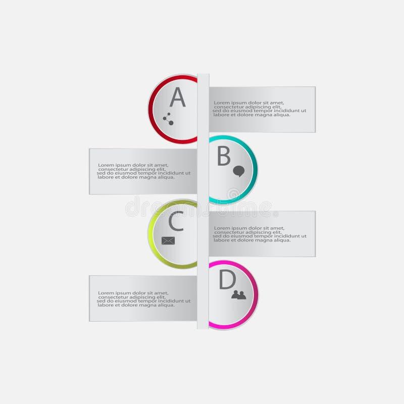 Elementi moderni di infographics dell'estratto di vettore illustrazione di stock