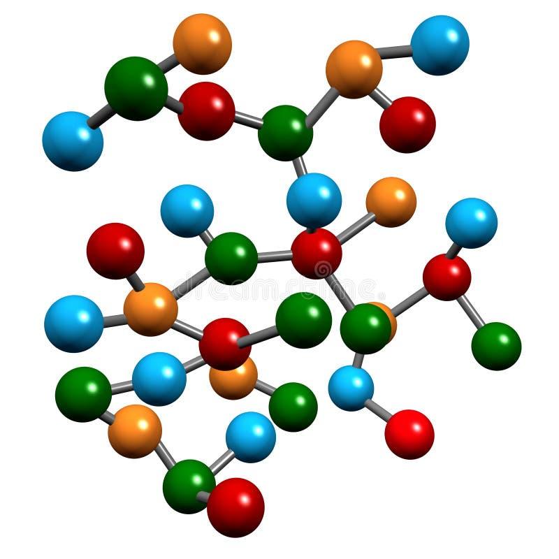 Elementi molecolari di chimica illustrazione vettoriale
