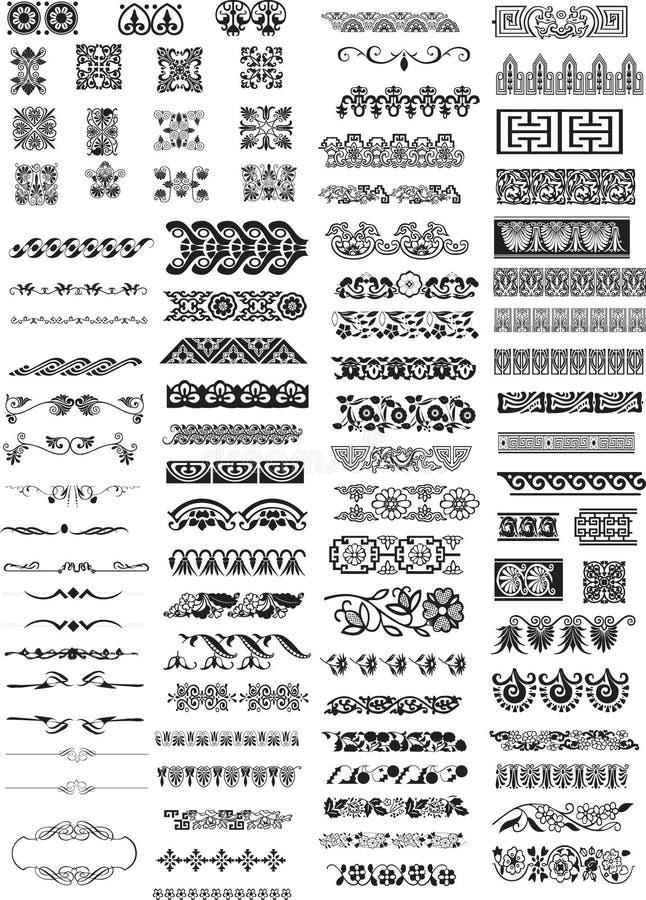 Elementi orizzontali di disegno royalty illustrazione gratis