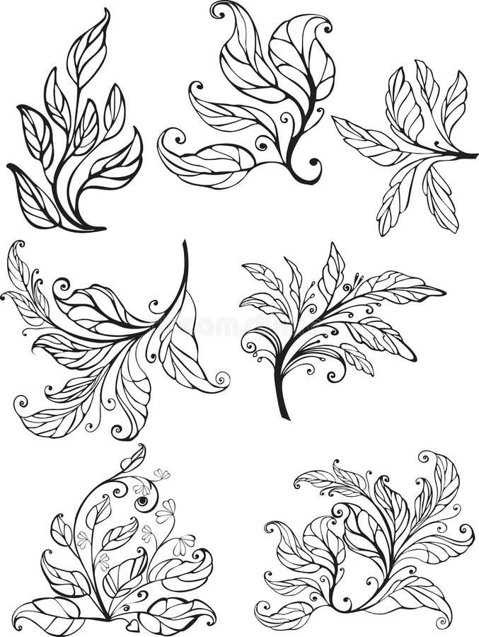 Elementi ornamentali di disegno -   royalty illustrazione gratis
