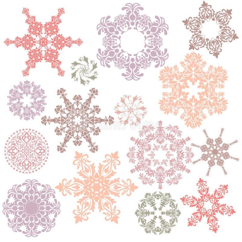 Elementi ornamentali di disegno royalty illustrazione gratis