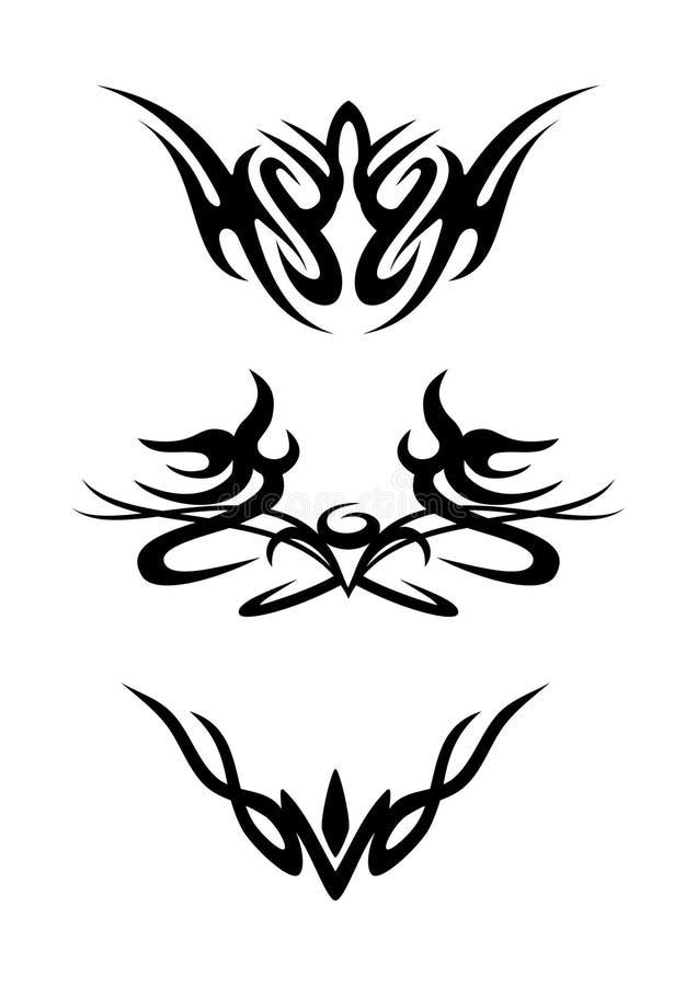 Elementi ornamentali tribali di disegno illustrazione vettoriale