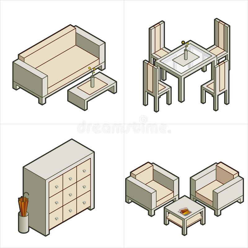 Elementi P. 16b di disegno illustrazione di stock