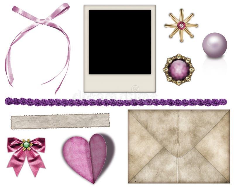 Elementi per la decorazione delle foto illustrazione vettoriale