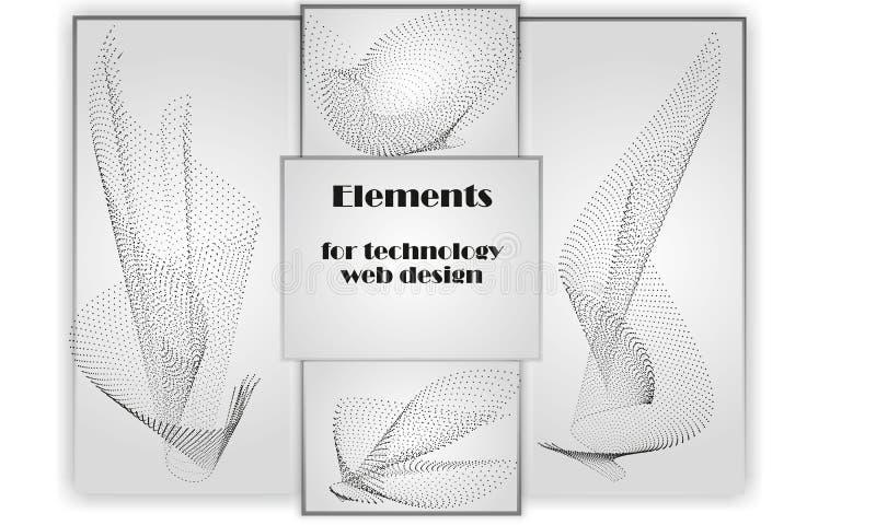 Elementi per web design di tecnologia immagini stock