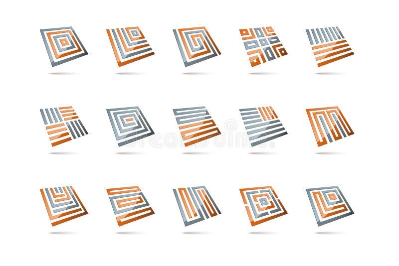 Elementi quadrati tridimensionali astratti 2 illustrazione for Immagini tridimensionali gratis
