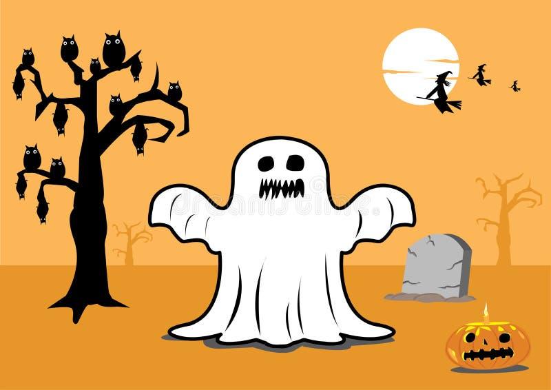 Elementi spaventosi in bianco e nero di Halloween illustrazione di stock