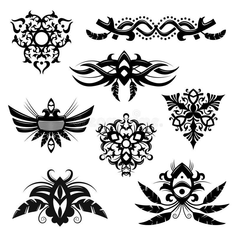Elementi tribali illustrazione vettoriale