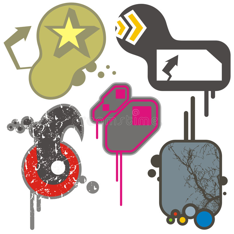 Elementi urbani di disegno royalty illustrazione gratis