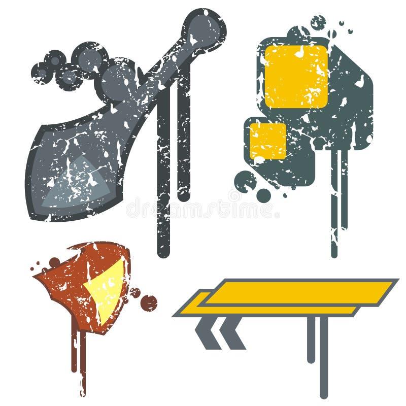 Elementi urbani di disegno illustrazione vettoriale