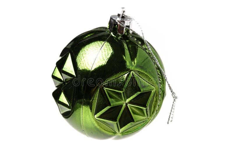 Elementi verdi della decorazione di Natale immagini stock