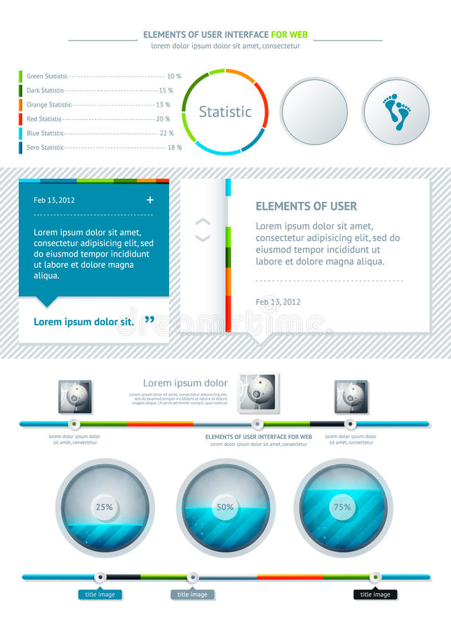 elementinfographics vektor illustrationer