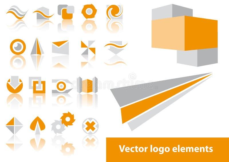 elementlogovektor royaltyfri illustrationer