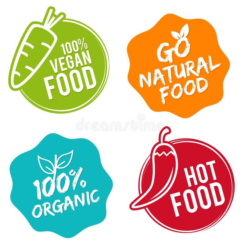 elementmat m?rker organiskt varm mat gr?nsaker f?r rad f?r mat f?r b?namorotblomk?lar naturliga Restauranglogodesign arkivfoto