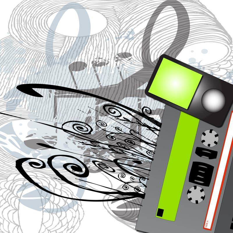 elementmusikportable vektor illustrationer