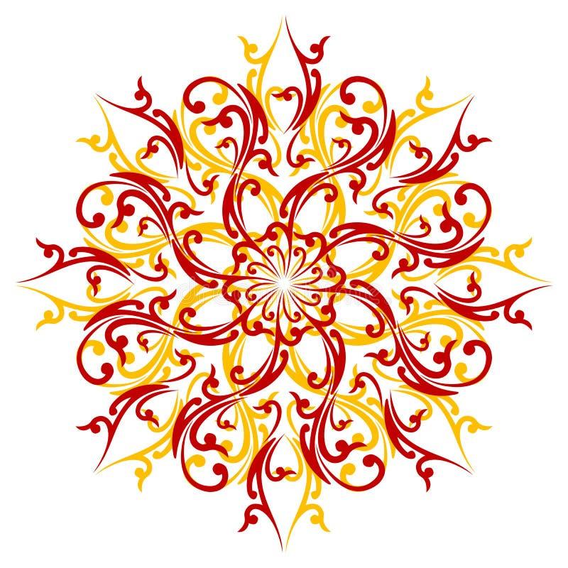 Elemento abstracto creativo de la decoración aislado en el backgroun blanco libre illustration