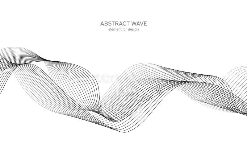 Elemento abstracto de la onda para el dise?o Equalizador de la pista de la frecuencia de Digitaces L?nea estilizada fondo del art imagen de archivo