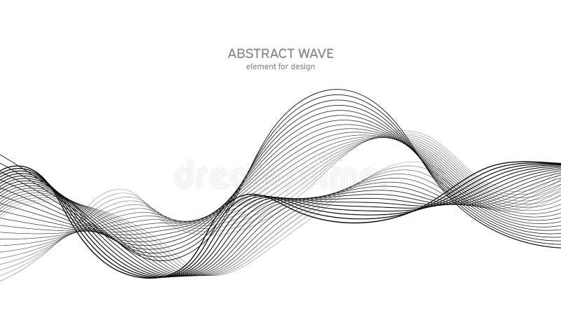 Elemento abstracto de la onda para el dise?o Equalizador de la pista de la frecuencia de Digitaces L?nea estilizada fondo del art fotografía de archivo