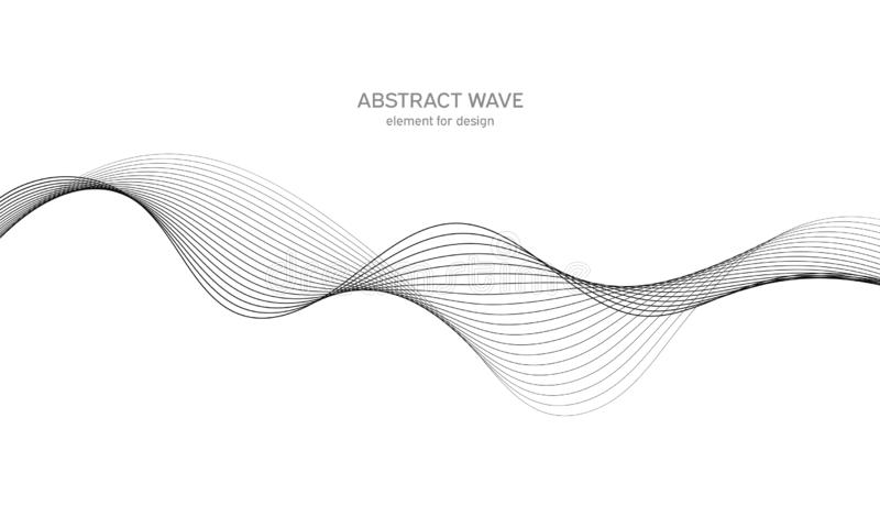 Elemento abstracto de la onda para el dise?o Equalizador de la pista de la frecuencia de Digitaces L?nea estilizada fondo del art imagen de archivo libre de regalías