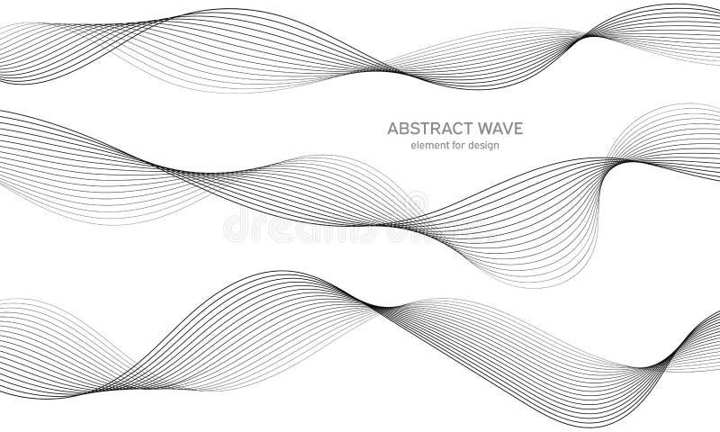 Elemento abstracto de la onda para el dise?o Equalizador de la pista de la frecuencia de Digitaces L?nea estilizada fondo del art foto de archivo
