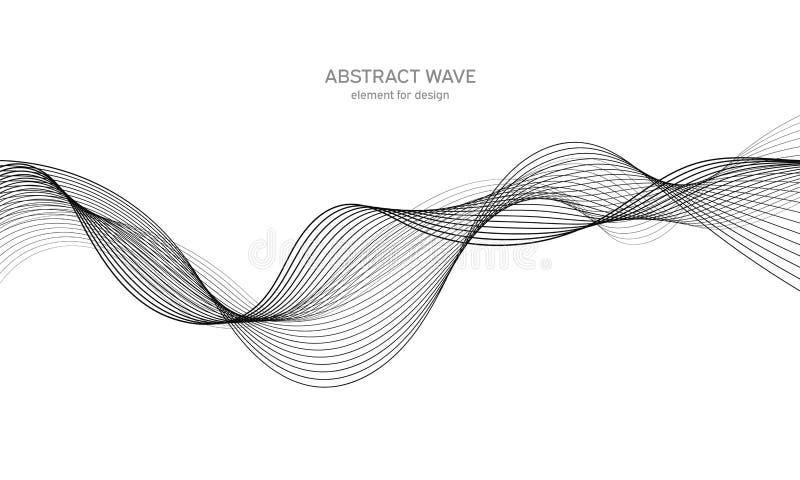 Elemento abstracto de la onda para el dise?o Equalizador de la pista de la frecuencia de Digitaces L?nea estilizada fondo del art foto de archivo libre de regalías