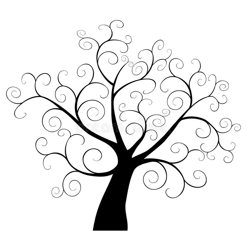 Elemento abstracto del árbol ilustración del vector
