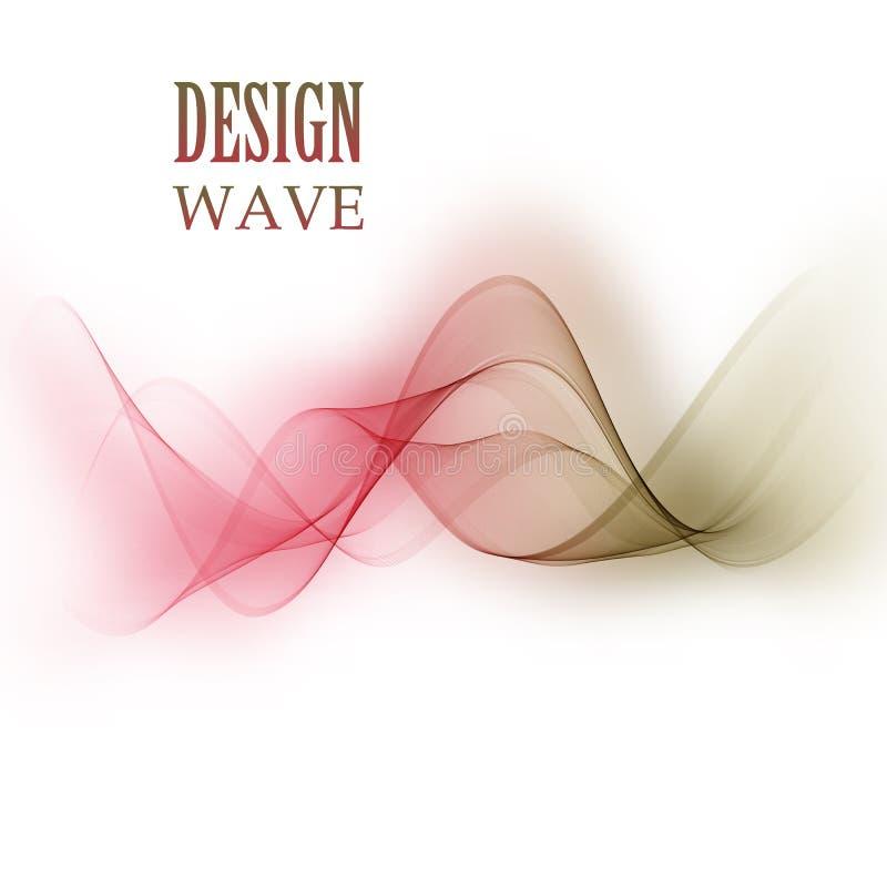 Elemento abstracto del diseño de la onda El movimiento de la textura de la onda ilustración del vector