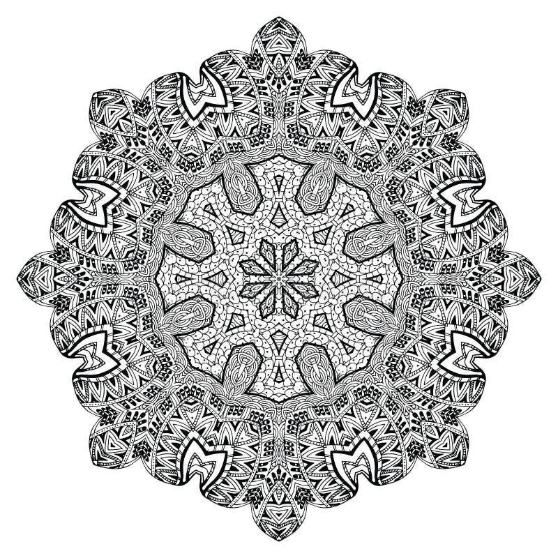 Elemento abstracto del diseño Mandala redonda en vector Plantilla gráfica para su diseño ilustración del vector