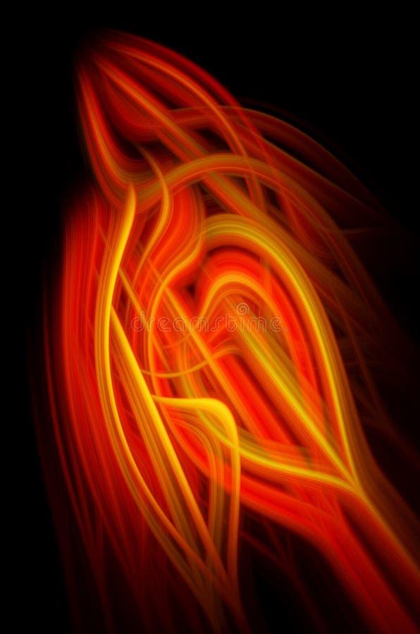 Elemento abstracto del fondo Concepto de la tecnolog?a de la informaci?n Naranja en negro Ilustraci?n vertical ilustración del vector
